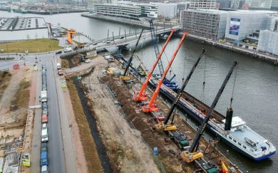 Construction of the waste heat line from Aurubis to Hafencity in Hamburg