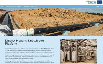 LowTEMP project's District Heating Knowledge Platform now online!